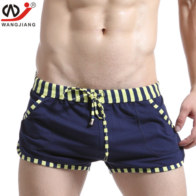 WJ Brand Male Panties Cotton Boxers Loose Leisure Shorts Underwear Men Shorts Mens Lounge Home Wear Underwears Comfortable