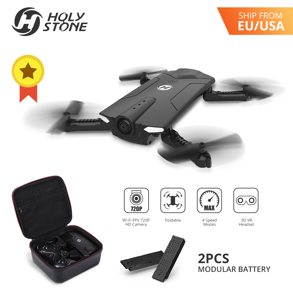[EU USA JP Stock]Holy Stone HS160 FPV 16min Fly Foldable RC Drone 4CH 2.4G 720P WiFi Camera Altitude Hold vs SYMA X5UW EU No Tax