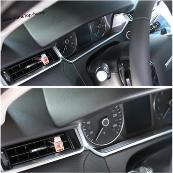 Yimaautotrims Dashboard Instrument Decoration Panel Cover Trim For Land Rover Range Rover Velar 2018 - 2020 Interior Mouldings