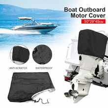 50 to 115HP Boat Full Motor Cover Outboard Engine Protector for 50-115HP Boat Motors Black Waterproof(China)