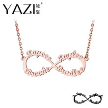 YAZI Customized Infinity Necklace With Four Names Family Name Necklace Personalize Unique Custom Infinity Nameplate Memory Gift  sc 1 st  AliExpress & Unique Memorial Gifts Promotion-Shop for Promotional Unique Memorial ...
