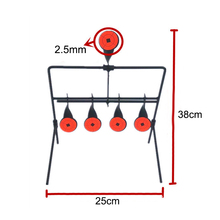 5-Plate Reset shooting Target/small target metal reduction and carbon steel target shooting practice slingshot b gun target