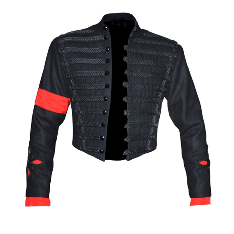 Michael Jackson Black Jacket Coat Top Adult Men's Performance Clothing Plays Suit Costumes Custom Made