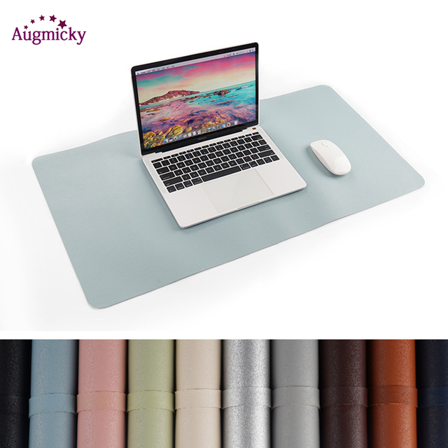 800*400mm Large Gaming Mousepad Locking Edge PU Leather Front Back Double Use Mouse Mat Office Desktop Laptop Big Mouse Mat