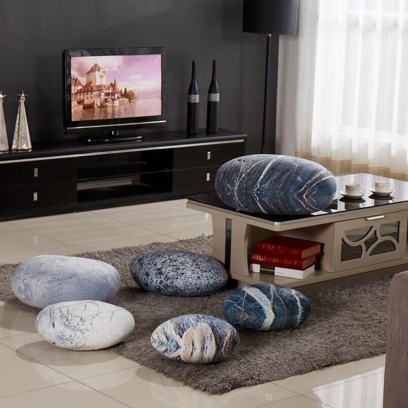 6pcs pedra multifuncional travesseiro almofada do sofa de pelucia realista paralelepipedos criativo cena lazer jogo aderecos
