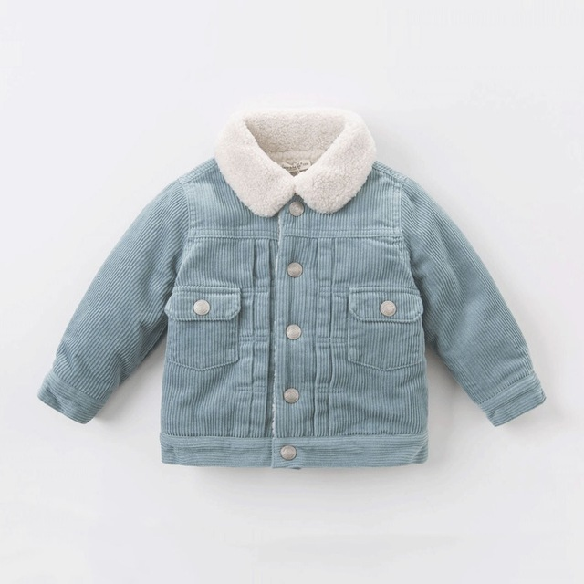 818b460f7521 Autumn Winter Jackets For Boys Clothes 100%Cotton Corduroy Fleece ...