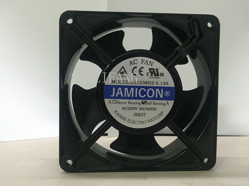 Free Shipping NEW JAMICON JA1238H2 12038 AC220V Inserting Piece Ball Bearing Cooling Fan