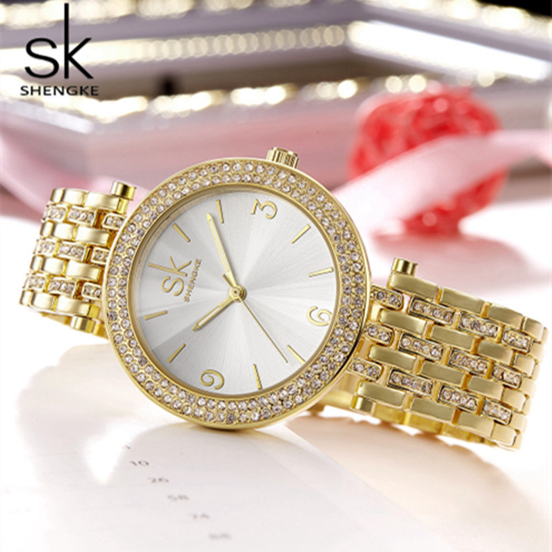 Shengke Women Watches Fashion Ladies Bracelet Watch 2017 Top Luxury Watches for Women Quartz Watch Relogio