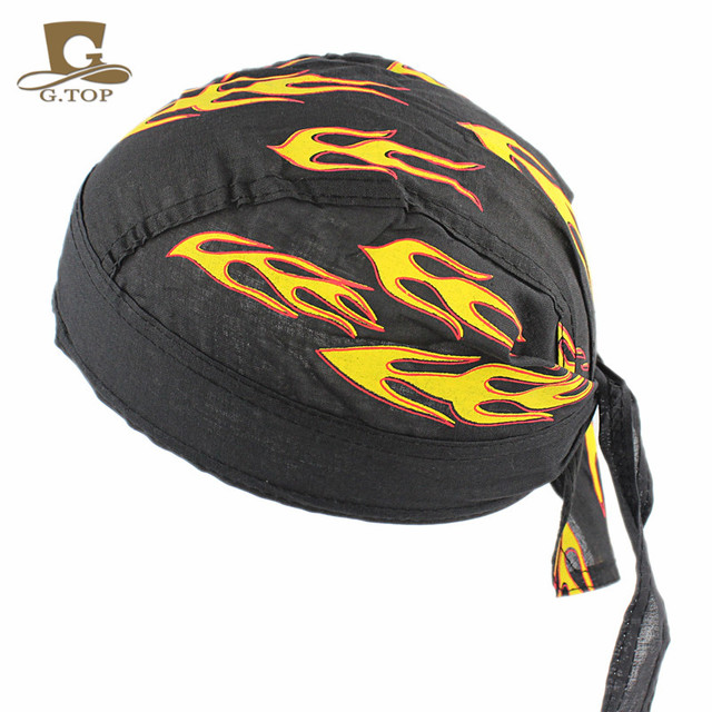 1a5c14073a New DOO RAG cotton Do Du rag Bandana Unisex Fitted Solid Tied head wrap  Motorcycle Skull Cap Men free shipping