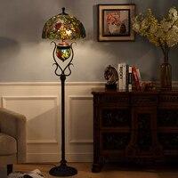 TF175 Europäischen Retro Garten Klassischen Kunst Vertikale Boden Lampe Gehobenen Kreative Kunst Lampe Schlafzimmer Wohnzimmer Studie Boden Lampe-in Stehleuchten aus Licht & Beleuchtung bei