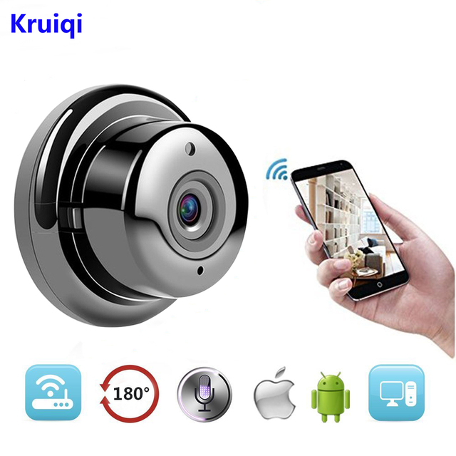 Kruiqi Wireless IP Camera HD 720P Mini Wifi Camera Network P2P Baby Monitor 960P CCTV Security Video Camera with IR-cut Two Way