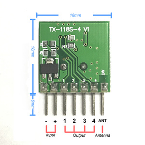 Image 3 - QIACHIP 5pcs 범용 무선 RF 송신기 1527 인코딩 모듈 Arduino 선물 안테나에 대 한 433.92Mhz 미니 원격 제어 PCBA