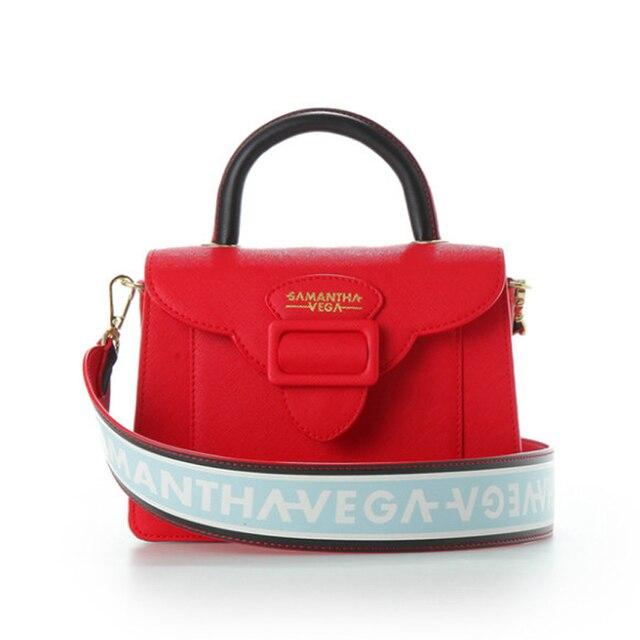 2017 Brand Designer Honey Salon Wide Shoulder Strap Bag New Samantha Vega Handbags Square Messenger
