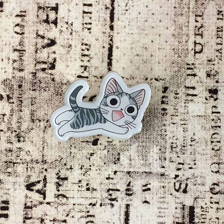 Chi Kucing Karton Lucu Kawaii Anime Pakaian Acrylic Pin Ikon Dekorasi Lencana Ransel Tombol Lencana Bros Panas Harajuku