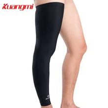 Kuangmi 1 PC Ultra-thin Cycling Leg Sleeve Basketball Leg Warmer Compression Leg Knee Long Sleeve Guard Football Golf Sunscreen