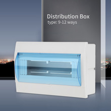 Plastic 9-12 Ways Circuit Breaker Distribution Box Distribution Protection Box For 9-12 Ways Circuit Breaker Indoor On The Wall