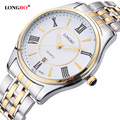 2016 Nueva Marca LONGBO Relojes Hombres de Lujo Caliente de Diseño de Negocios Muñeca Relojes deportivos con Luz Amante de la Mujer de Cuarzo de Acero Completo reloj