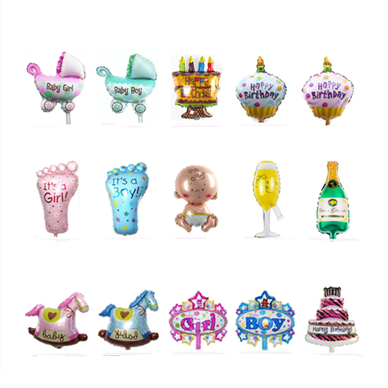 XXPWJ Free shipping new mini cartoon animals, children's toys, cake aluminum bal