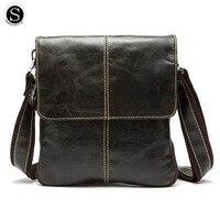 Senkey Style Fashion Genuine Leather Retro Men Messenger Bags 2017 Famous Brands Shoulder Bags For Men