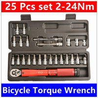 17 Pcs Set Bicycle Torque Wrench 1 4 DR 2 14Nm Bike Tools Kit Set Tool