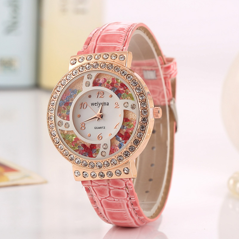 Fashion Women Girl Colorful Watch PU Leather Quartz Wrist Watches Waterproof Student Bracelet Watch Best Gifts Relojes Mujer hot unique women watches crystal leather bracelet quartz wrist watch mujer relojes horloge femmes relogio drop shipping f25