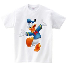 2019 Donald Print T Shirt Kids Summer Tops T-shirt Children Cartoon Short Sleeve T Shirt Boy/girl Cute T-shirts Baby Tees Mickey цены онлайн
