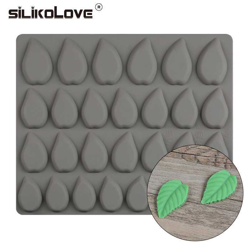 SILIKOLOVE 28 Cavity Leaves Shaped Silicone Molds For Mastic Confectionery Accessories Chocolate Cake Decorating Tools Baking