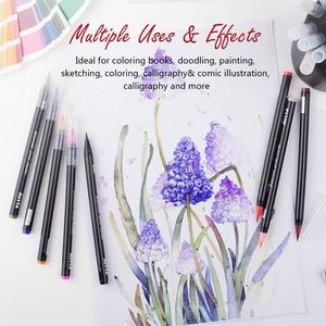 Image 5 - Artist True Brush Marker Pens 24/48 Colours Blendable Watercolor Scrapbooking Crafts Soft Fine Tip Brush Pen Art Marker