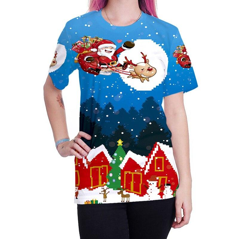 52d280d25989 Christmas T Shirt Men Women Santa Claus Elk 3D Print Tee Shirt Homme Mens  Slim Fit T shirts Casual Hip Hop Harajuku Top Tees XXL-in T-Shirts from  Men s ...