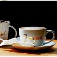 Creative Flower Bone China Simple Coffee Cup Set Tea Europe Milk Handle Solid Tea Cup Tekopp Best Cups Drinks Supplies WKD084