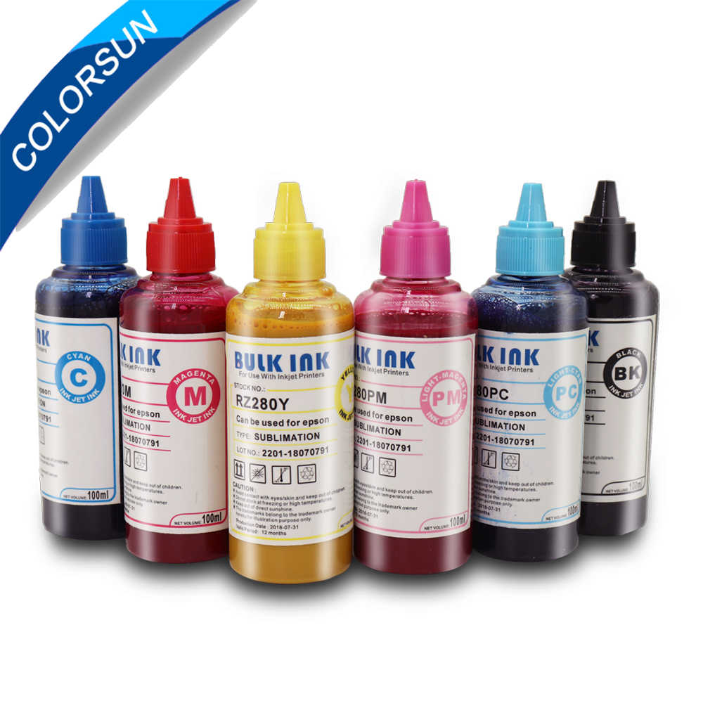 6*100ML Universal Sublimation Ink For Epson T50 L800 Printers Heat Transfer  Ink Heat Press Sublimation Ink