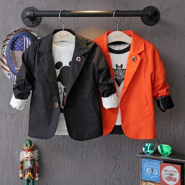 Spring Autumn Children Suit Blazer 2016 Long Sleeve Formal Blazer Kids Boy Clothing Fashion Boys Jackets&Coats Toddler Outwear
