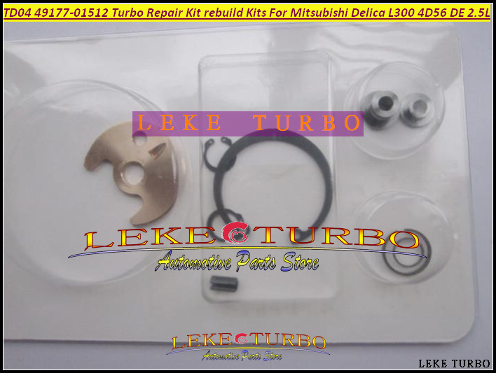 Turbo Repair Kit rebuild Kits TD04 49177-01512 Turbocharger For Mitsubishi Delica L300 4D56 DE 2.5L ( 3 hole+Water cooled) [randomtext category=