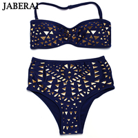 2016 Push Up Bandeau Bikini Sequins Bling Sexy Bikinis Highwaist Swimwear Women Swimsuits Bathing Suit Maillot