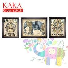 Kaka наборы для вышивки крестом 5d с принтованным рисунком 11ct
