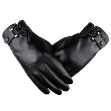 2017 Top Fashion Men Thermal Winter Sports Leather Gloves driving gloves luvas de inverno luva academia fitness