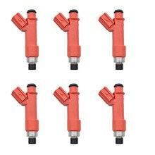 6 قطعة/الوحدة 850cc حاقن الوقود 1001 87F90 100187F90 1ZZFE 2ZZGE لتويوتا 1.8L لوتس إكسيج سيليكا