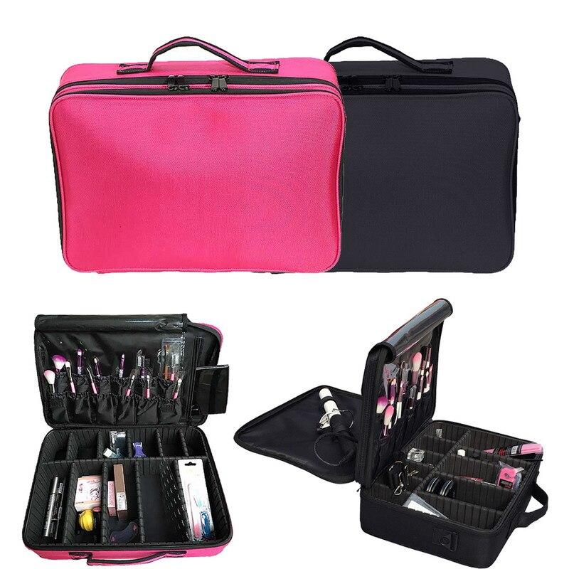 2017 Professional Multi-function Organizer Cosmetic Makeup Case Bag Artist Dedicated Makeup Storage High Quality # nyx professional makeup кейс визаж beginner makeup artist train case beginner