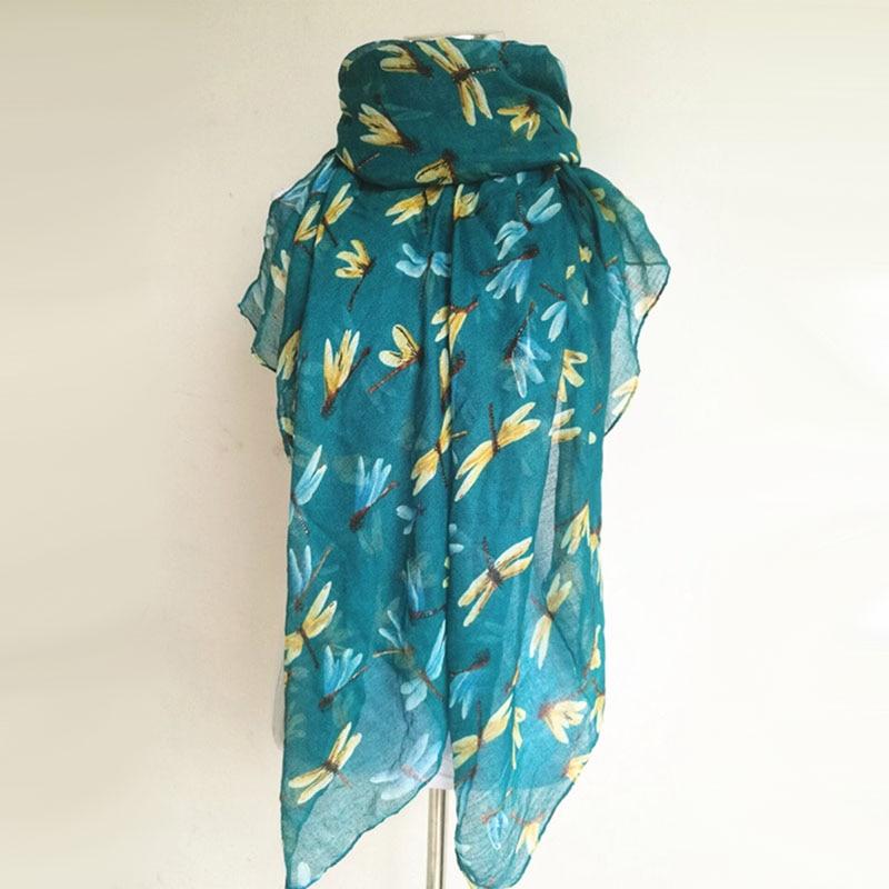 Nouveauté mode imprimé animal écharpe libellule dames foulards - Accessoires pour vêtements - Photo 6
