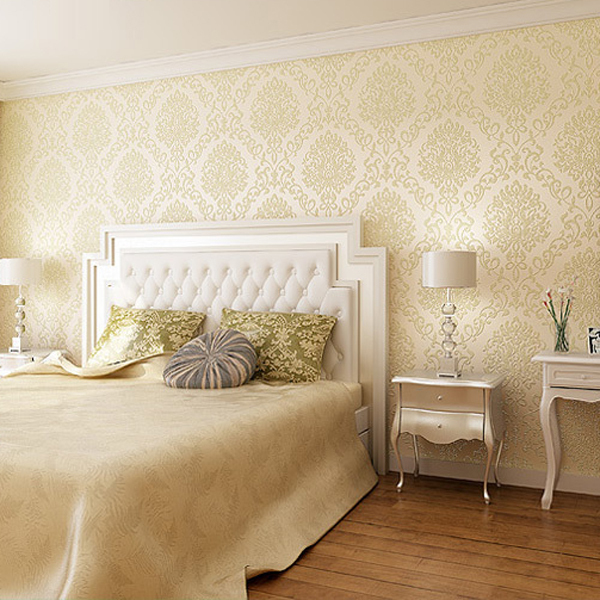 1 rouleau 3 couleurs art d coration 3d flocage papier peint pour chambre murale d corative non. Black Bedroom Furniture Sets. Home Design Ideas