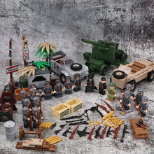 NEW WW2 Military German Army Soldier Figures Blocks toys Typ 82 Kubelwagen Weapons Accessories Bricks Toys for Children