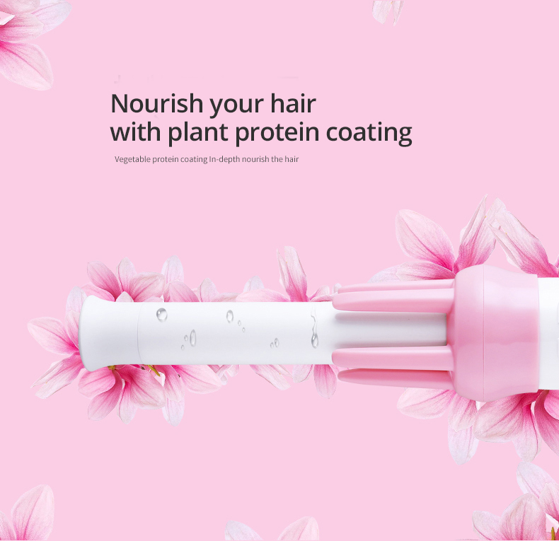 Automatic Curly Hair Stick Hair Curler Fast Styling in 5 Min Ceramic Heating Tube Nourish Hair with Plant Protein Coating 40