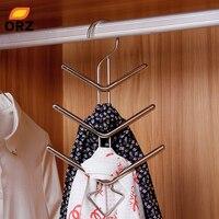 ORZ Espinha de Peixe Forma de Gravata Gravata Cinto Toalha de Aço Inoxidável Rack de Cabide Xale Cachecol Titular Organizador Economia de Espaço em Rack De Secagem De Calçados