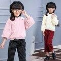 Девушки Корейской Моды Монохроматического Свитер Лаванда Красный Белый