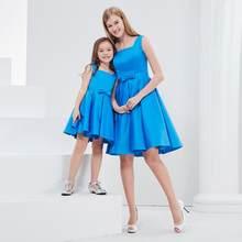 81a7c69f2 Madre hija vestido de boda Vestido de princesa elegante de las mujeres  vestido de cóctel Mamá Adolescentes niños Juego de ropa Y..