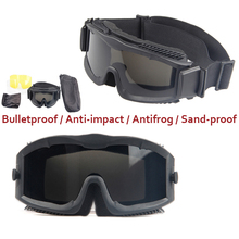 Hot Dust Tactical Glasses Eyewear Outdoor Sports Cycling Men & Women Universal Military Protection Durable