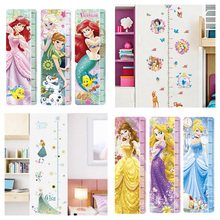 Disney Princess Snow White Elsa Mermaid Rapunzel Cinderalle Belle Growth Chart Wall Stickers for Kids Height Measure  Home Decor