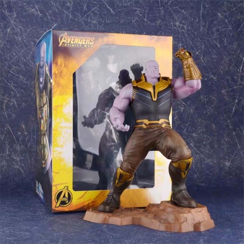 25 Cm Film Avenger 4 Endgame Artfx Thanos Figurine Action Koleksi Model Mainan Boneka Hadiah
