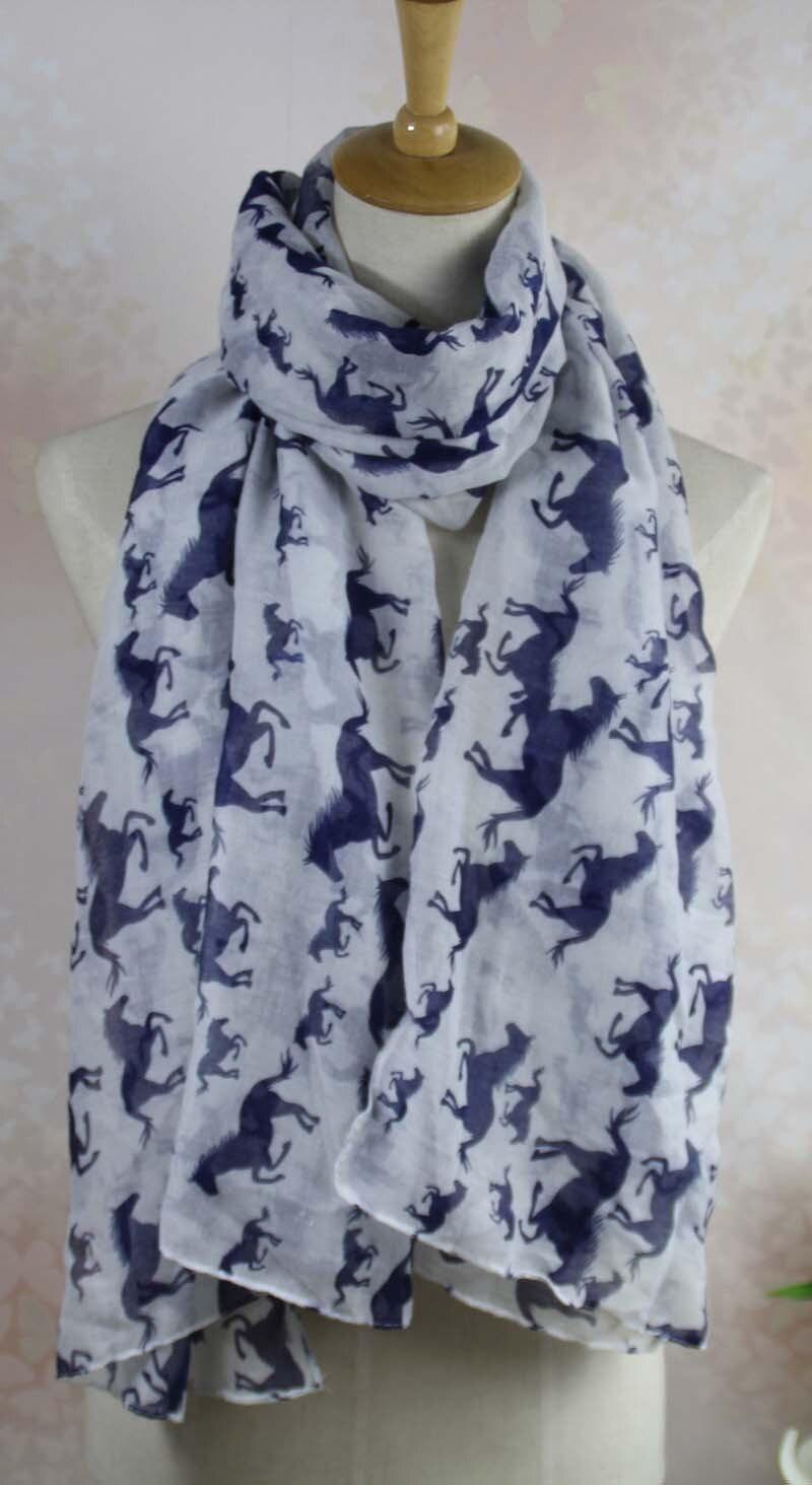 Бегущий большой и маленький рисунок лошадей, шарф Петля 90*180 см Вуаль шарф с рисунком лошади