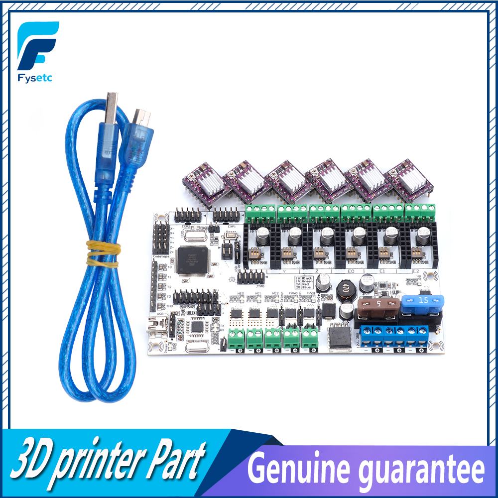 Rumba Plus For 3D Printer Start Kits Motherboard Rumba+ Board With 6pcs DRV8825 Stepper Driver &6pcs Heatsink With Free Shipping rumba plus 3d printer start kits mother board upgrade rumba control board with 6pcs drv8825 stepper driver suitable mks tft